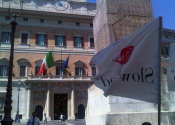La 'Task force per un'Italia libera da ogm', a cui hanno aderito una trentina di associazioni del mondo agricolo. ANSA/ GIULIA SAMPOGNARO
