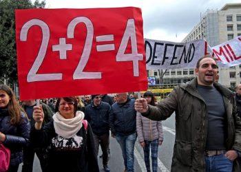 Manifestanti al Family Day al Circo Massimo, Roma, 30 gennaio 2016. ANSA/ ALESSANDRO DI MEO