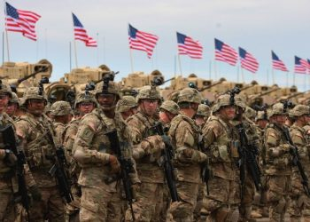 epa04743213 US servicemen line up during the official opening ceremony of the joint US-Georgia military exercise 'Noble Partner 2015' at the military base of Vaziani outside Tbilisi, Georgia, 11 May 2015. Exercise Noble Partner is a bilateral effort focused on enhancing US and Georgian NATO Response Force interoperability in the context of military-to-military relationships, the United States Army Europe says on its website. It involves some 600 Georgian and US service members.  EPA/ZURAB KURTSIKIDZE