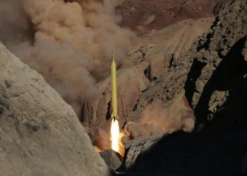 """In this photo obtained from the Iranian Fars News Agency, a Qadr H long-range ballistic surface-to-surface missile is fired by Iran's Revolutionary Guard, during a maneuver, in an undisclosed location in Iran, Wednesday, March 9, 2016. Iranís powerful Revolutionary Guard test-fired two ballistic missiles Wednesday with the phrase """"Israel must be wiped out"""" written on them, a show of deterrence power by the Islamic Republic as U.S. Vice President Joe Biden visited Israel, the semi-official Fars news agency reported. (AP Photo/Fars News Agency, Omid Vahabzadeh)"""