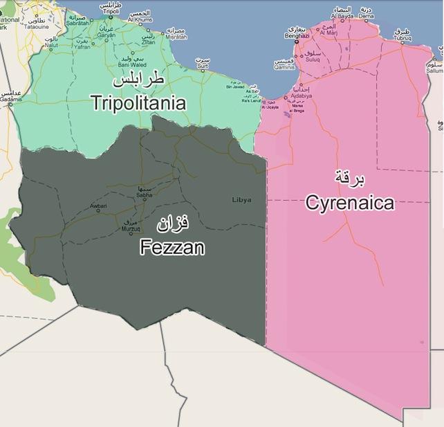 libia-Tripolitania-fezzan-cyrenaica