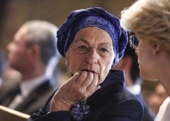 Emma Bonino durante la conferenza ''The state of the european union and the way forward'', nella Sala Regina di Palazzo Montecitorio, Roma, 15 aprile 2016. ANSA/ GIUSEPPE LAMI