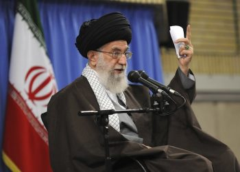 In this picture released by official website of the office of the Iranian supreme leader, Supreme Leader Ayatollah Ali Khamenei addresses a group of teachers in Tehran, Iran, Monday, May 2, 2016. Iran's Supreme Leader has criticized the U.S. Presence in the Persian Gulf region, saying American forces should go back to the Bay of Pigs. Ayatollah Ali Khamenei's website quoted him as telling a group of teachers Monday that American military drills in the region were proof of U.S. arrogance. (Office of the Iranian Supreme Leader via AP)