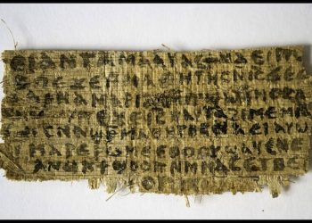epa03402298 Undated handout photo of a piece of papyrus written in Coptic during the fourth century, that according to the historian Karen L. King, holds a phrase never seen before in any piece of Scripture, related to the possible wife of Jesus. The piece, smaller than a calling card, contains eight lines, including one saying 'Jesus said to them, My wife ' and a second stating 'she will be able to be my disciple.' The finding was presented at an international meeting of Coptic scholars by Ms. King, in Rome, Italy, 18 September 2012.  EPA/KAREN L.KING/HO MANDATORY CREDIT: KAREN L.KING HANDOUT EDITORIAL USE ONLY/NO SALES/NO ARCHIVES