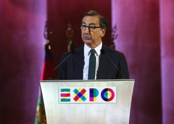 Expo's Commissioner Giuseppe Sala during the closing ceremony of the Milan Expo 2015 in the Open Air Theatre, in Milan, Italy, 31 October 2015. The event, which opened on 01 May 2015 under the banner 'Feeding the Planet, Energy for Life', has attracted a record 21 million visitors.   ANSA/MOURAD BALTI TOUATI