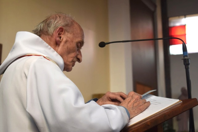 This is an undated image of French Priest Jacques Hamel made available by the Catholic Diocese if Rouen in France on Tuesday July 26, 2016. Priest Jacques Hamel was killed on Tuesday when two attackers slit the throat of the 86-year-old  priest who was celebrating Mass Saint-Etienne-du-Rouvray, in France, killing him and gravely injured another of the handful of church-goers present before being shot to death by police. The Islamic State group claimed responsibility for the first attack in a church in the West. (Doicese of Rouen via AP)