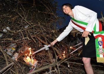 New Turin's Mayor, Chiara Appendino, of anti-establishment Five Star Movement (M5S) attends the patronal celebration of Saint Jhon in Turin, Italy, 23 June 2016.   ANSA/ALESSANDRO DI MARCO