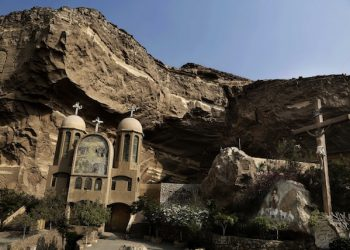 A general view of the Cave Cathedral or St. Sama'ans Church on the Mokattam hills overlooking Cairo, Egypt, Tuesday, Aug. 30, 2016. After long hoping for an end to restrictions on the building of churches, many of Egypt's Christians are infuriated and feeling betrayed after lawmakers on Tuesday passed a law giving authorities broad powers to veto construction for vague reasons including worries over 'national security.' (AP Photo/Nariman El-Mofty)