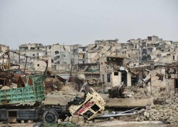 epa05695104 An undated handout photo made available by Russian defense Ministry on 02 January 2017 shows eastern area  of Aleppo, Syria. Russian military spokesman Igor Konashenkov said on 26 December 2016 that the one difficulty being encountered after the liberation of Aleppo was that many mines had been planted in streets, entrances to houses, cars and even in children's toys. Russia sent a bomb disposal unit to Syria to help demining efforts in Aleppo.  EPA/RUSSIAN DEFENCE MINISTRY PRESS SERVICE HANDOUT BEST QUALITY AVAILABLE HANDOUT EDITORIAL USE ONLY/NO SALES