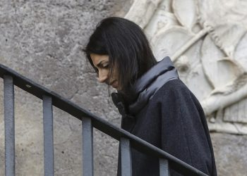 Rome Mayor Virginia Raggi leaves arriveas in Campidoglio, Italy, 03 February 2017. Rome's embattled Mayor Virginia Raggi said after emerging from eight hours of questioning by Rome prosecutors that she knew 'nothing' about a 30,000 euro assurance policy written out in her name by her former cabinet chief Salvatore Romeo. Raggi was questioned in a separate probe in which she is suspected of abuse of office for appointing Renato Marra, brother of her former right-hand man Raffaele Marra, as Rome tourist chief, ANSA/ GIUSEPPE LAMI