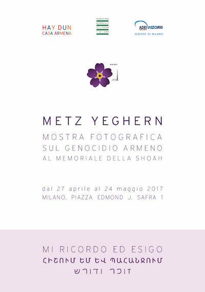 METZ YEGHERN Il RIcordo del Genocidio Armeno al Memoriale della Shoah di Milano 2017