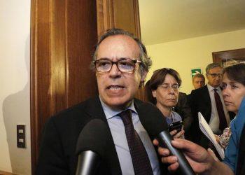 Salvatore Torrisi in Comissione Giustizia del Senato per la votazione del Presidente, Roma 08 maggio 2013. ANSA/GIUSEPPE LAMI