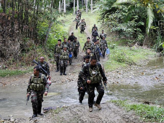 Military offensive against the Abu Sayyaf on Bohol island