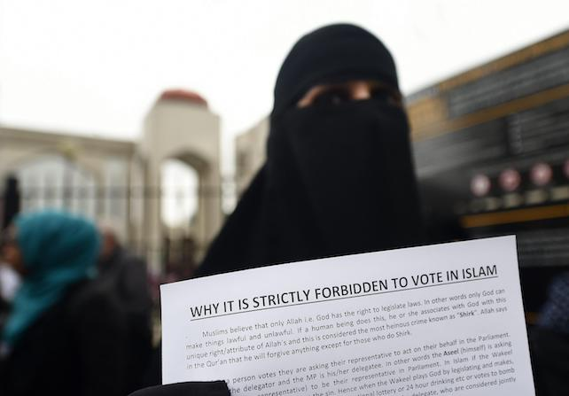 Anjem Choudary calls for muslims to refrain from voting in the forthcoming general election