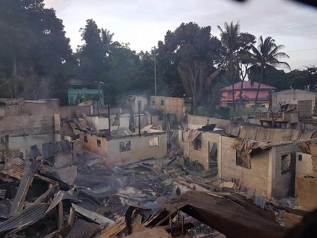 Marawi City devastation after torching by Maute group and aerial bombardment of Philippine Military. Photographs obtained from a Facebook album of Ms. Sittie Ainah U Balt, a Marawi resident (used with permission).