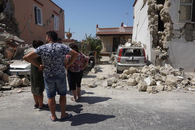 Earthquake at Ischia Island in Italy