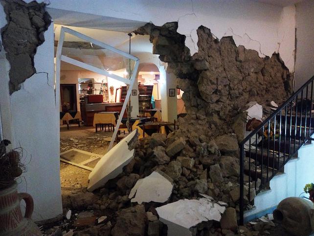 Earthquake in Ischia island