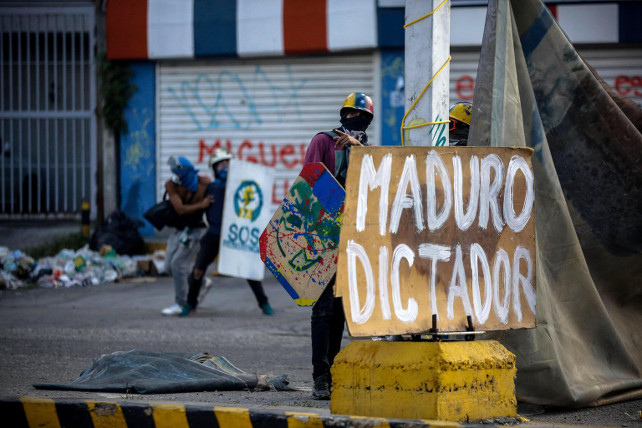 venezuela-portesta-maduro-ansa