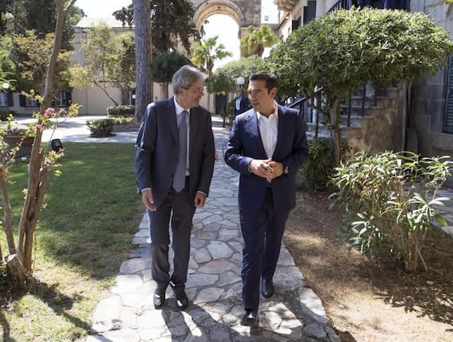 Tsipras gentiloni ansa