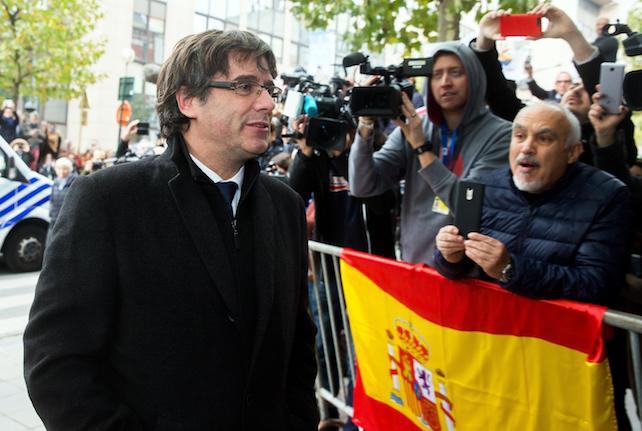 Dismissed Catalonian regional President Carles Puigdemont press conference