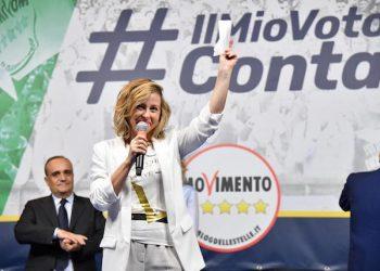 Giulia Grillo, ministreo della Salute, in occasione della feste del M5s in Piazza della Bocca della Verit‡, Roma, 3 giugno 2018. DI MEO