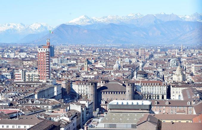 Vedute di Torino dalla Mole Antonelliana, Torino, 4 febbraio 2016. ANSA/ALESSANDRO DI MARCO