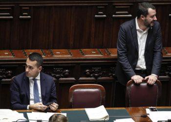I vicepremier Luigi Di Maio e Matteo Salvini a Montecitorio