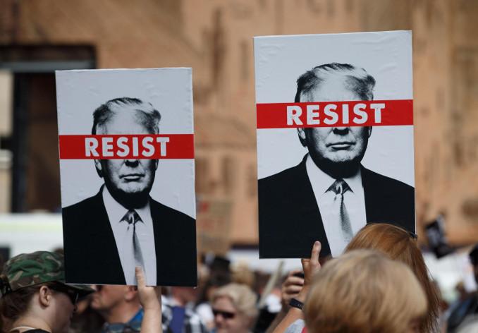 Protesta contro Trump
