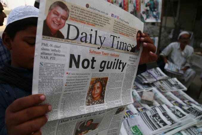 L'assoluzione di Asia Bibi sulle prime pagine dei quotidiani del Pakistan