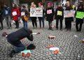 Protesta del movimento #MeToo in Francia contro le molestie sessuali