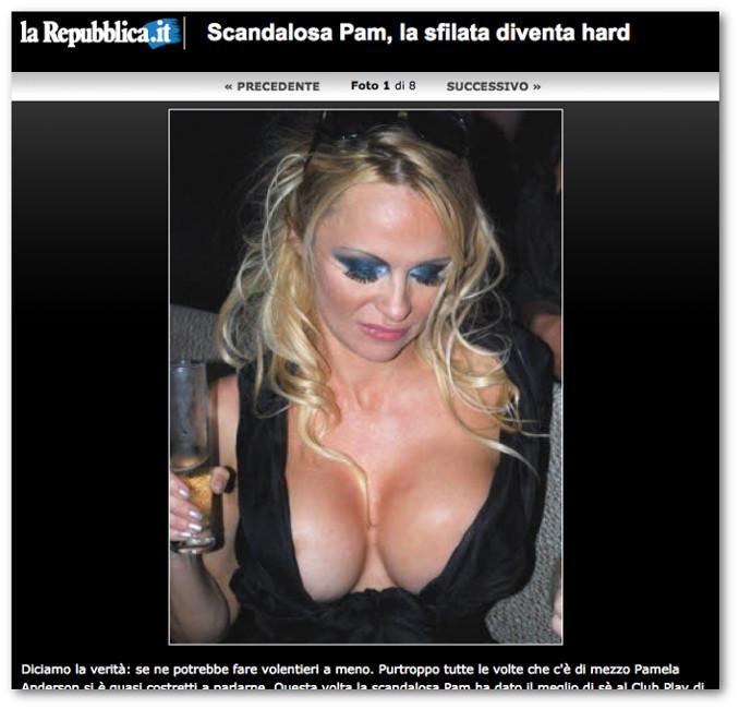 Galleria di foto di Pamela Anderson sul sito di Repubblica