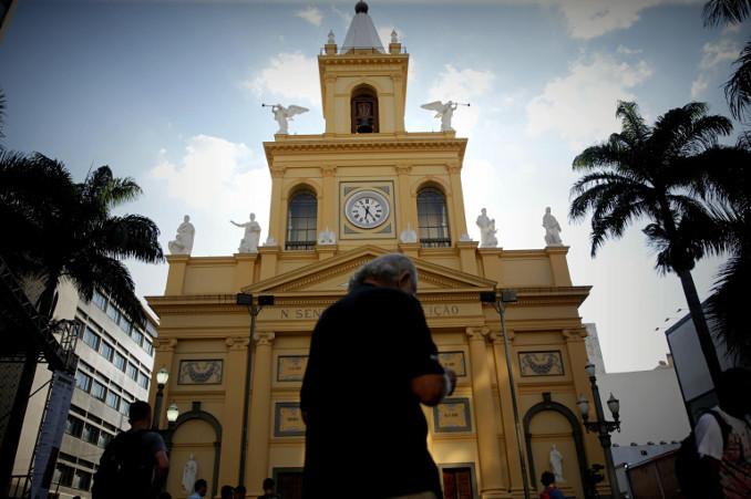 La facciata della cattedrale di Campinas, Brasile
