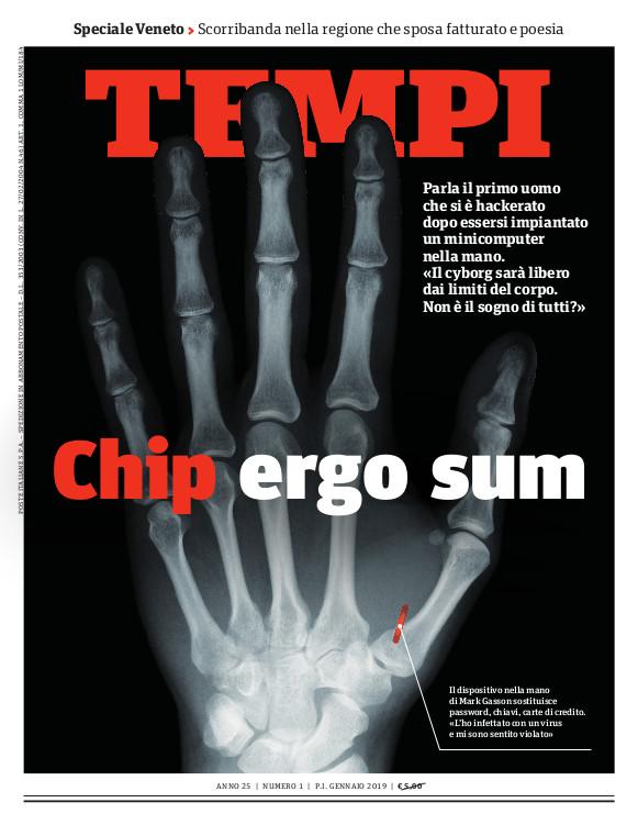 Copertina del numero di gennaio 2019 di Tempi