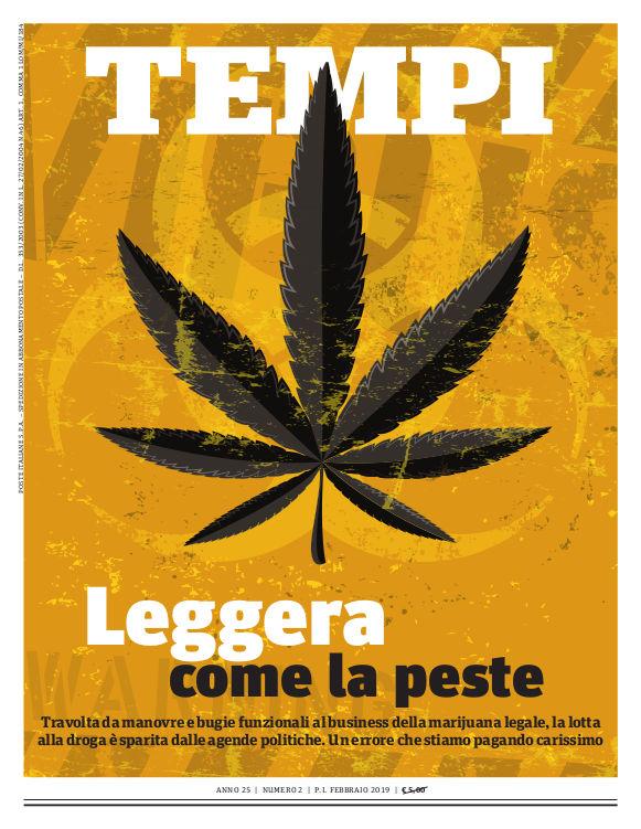 Copertina del numero di febbraio 2019 di Tempi