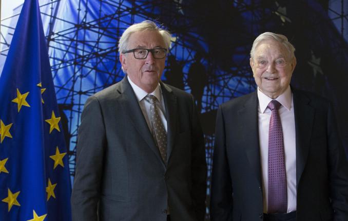 George Soros con Jean-Claude Juncker