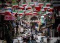 Scorci di una via dei Quartieri spagnoli a Napoli