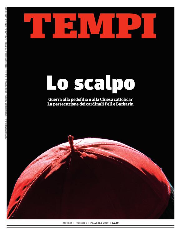 Copertina del numero di aprile 2019 di Tempi