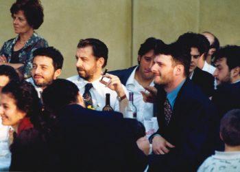 Enzo Piccinini con amici universitari di Cl di Bologna