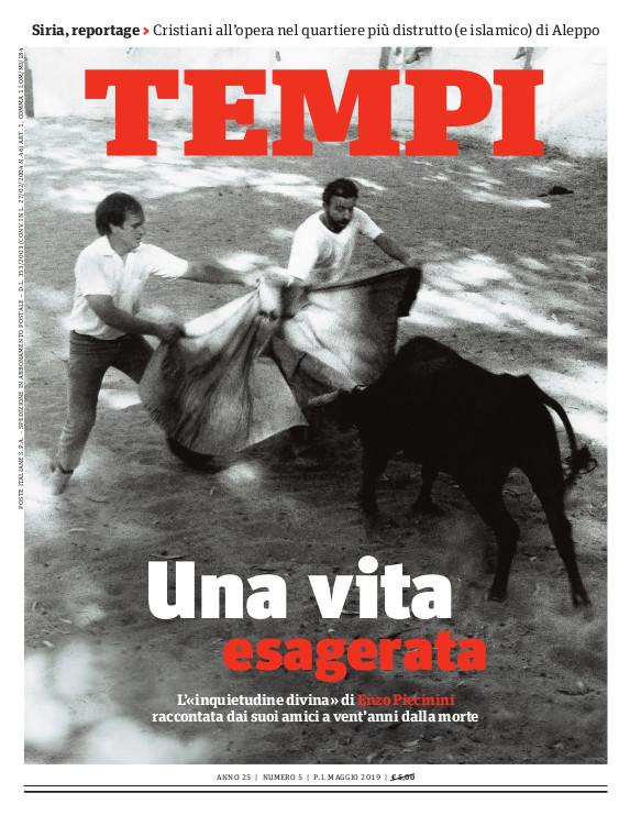 Copertina del numero di maggio 2019 di Tempi