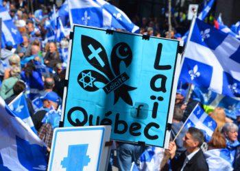Manifestazione in Quebec a favore della legge sulla laicità