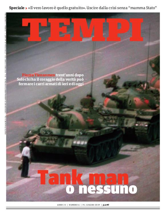 Copertina del numero di giugno 2019 di Tempi