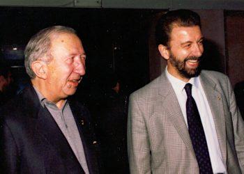 Enzo Piccinini con don Luigi Giussani