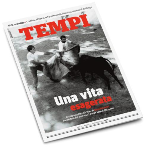 La copertina del numero di Tempi di maggio 2019 dedicata a Enzo Piccinini