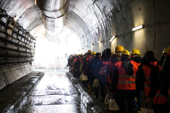 Tunnel nel cantiere della Tav a Chiomonte