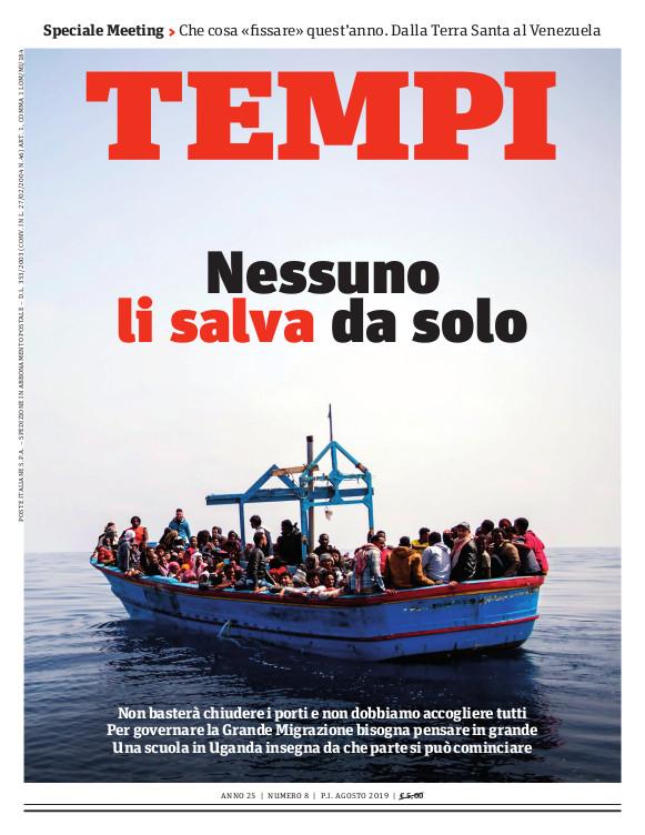Copertina del numero di agosto 2019 di Tempi