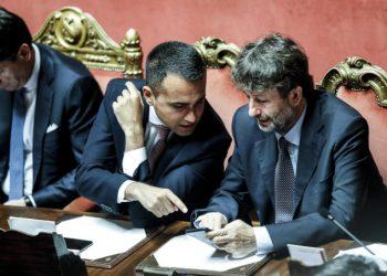 Luigi Di Maio e Dario Franceschini in Parlamento