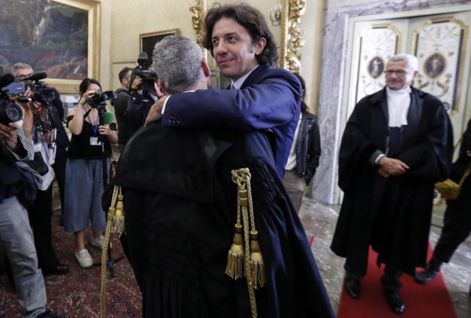 Marco Cappato all'udienza della Corte costituzionale sul caso Dj Fabo