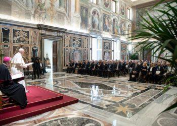 Francesco ha ricevuto in Udienza presso la Sala Clementina la Federazione Nazionale degli Ordini dei Medici Chirurghi e degli Odontoiatri, Vaticano, 20 settembre 2019