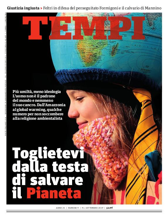 Copertina del numero di settembre 2019 di Tempi