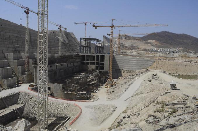 Il cantiere della Grande diga del Rinascimento etiopico sul Nilo Azzurro